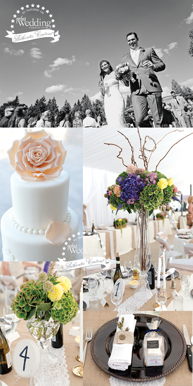 Stephanie and Daniel's Graden Party from Erin Gilmore, in Perfect Wedding Magazine