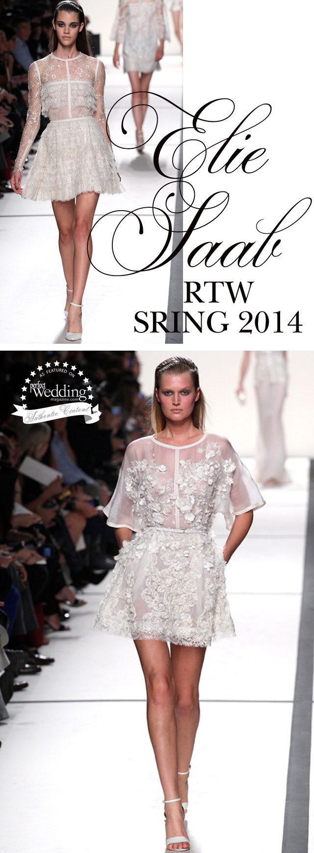 Elie Saab RTW Spring 2014, Perfect Wedding Magazine blog, Lace Gowns