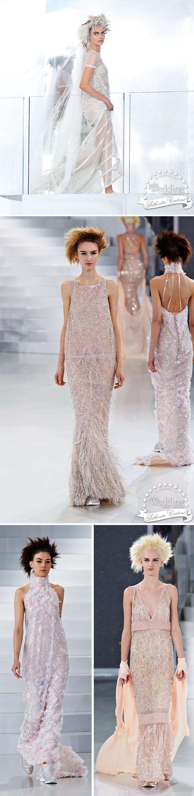 Chanel Spring Summer 2014 Haute Couture, Perfect Wedding magazine, Chanel Bride
