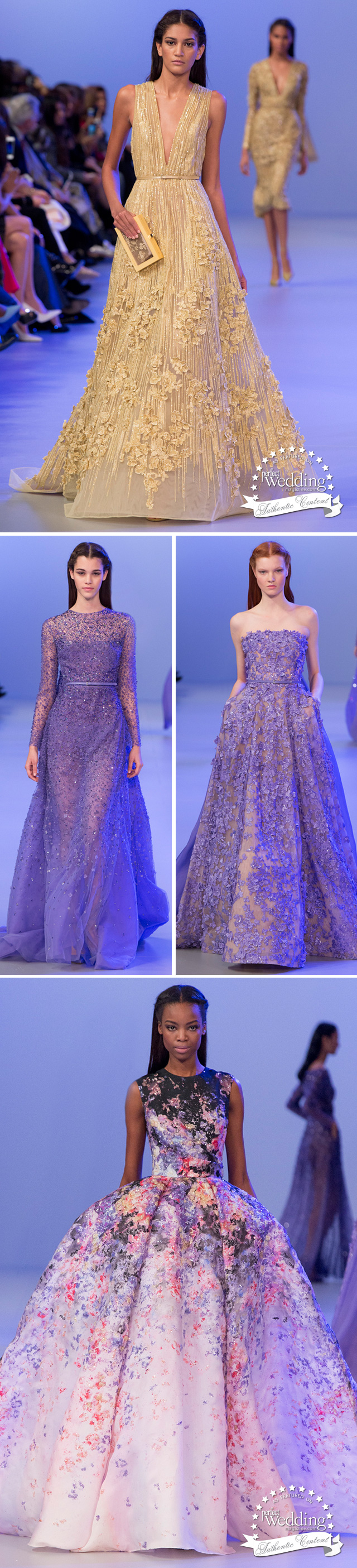 Elie Saab Spring Summer 2014 Haute Couture, Perfect Wedding magazine, Wedding gowns