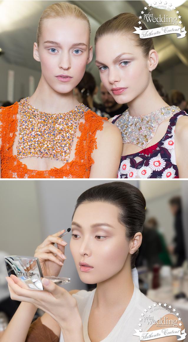 Dior, Dior Beauty, Dior Spring Summer 2015 Haute Couture Show, Haute Couture Makeup, Bridal Spring Makeup trends, Perfect Wedding Magazine