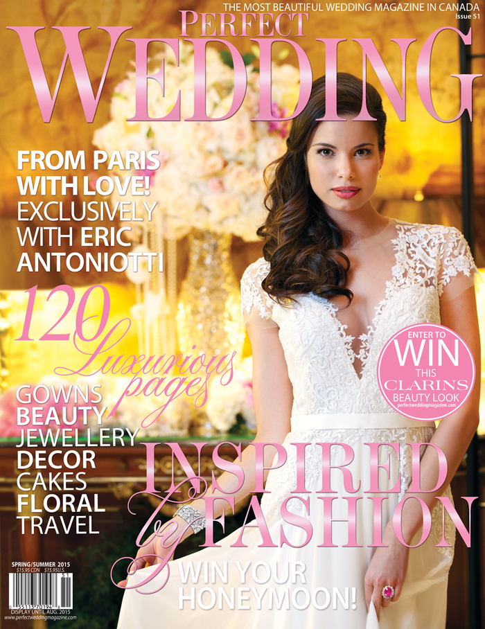 INSPIRED BY FASHION - Perfect Wedding Magazine's new cover for Spring/Summer 2015