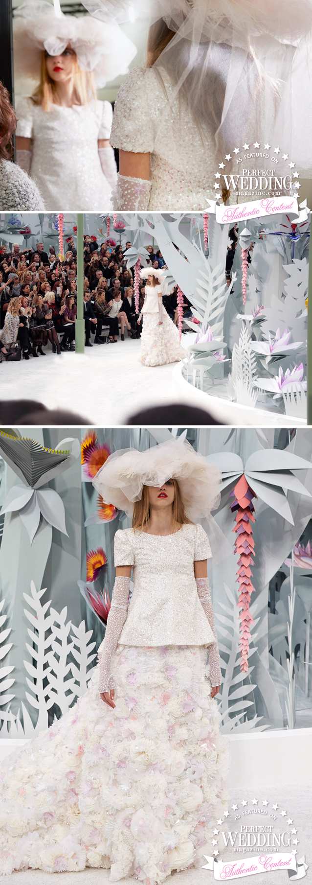 Chanel, Chanel Wedding Gown, Haute Couture Spring Summer 2015, Chanel Ateliers, Perfect Wedding magazine