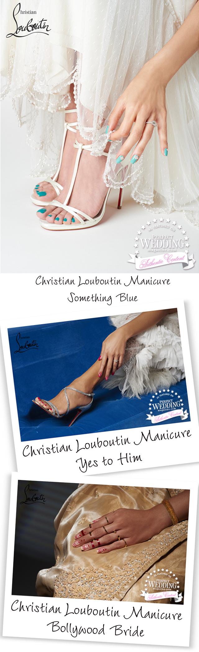 Christian Louboutin, Christian Louboutin Manicure, Christian Louboutin Bridal Manicure, Perfect Wedding Magazine, Nails Bridal trends, Couture Nail
