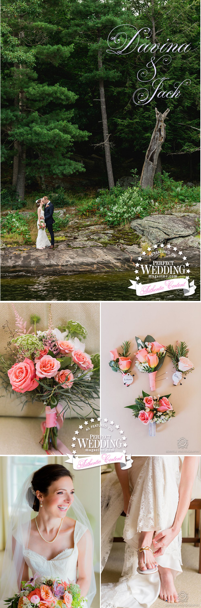 SUMMER WEDDING MUSKOKA,Canadian Summer Weddings, Summer weddings, Muskoka Weddings, Rowell Photo, Cottage Wedding, Wedding Decor, Bridal Flowers, Perfect Wedding Magazine, Perfect Wedding Blog