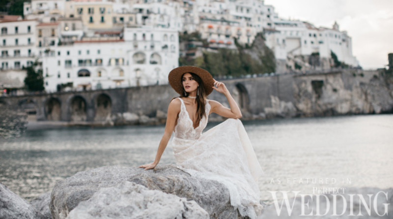Tara Lauren Bridal, destination wedding Dresses, Tara Lauren, Perfect Wedding Magazine, Spring 2017, Spring 2017 Bridal, Amalfi Coast,